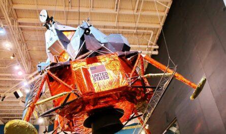 Model vesmírného modulu v rámci letu Apollo 11